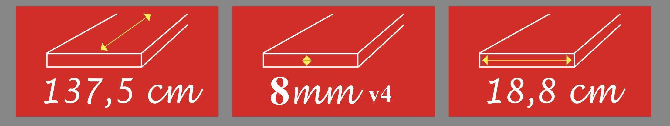 Πάτωμα Laminate 8mm με Αρμό